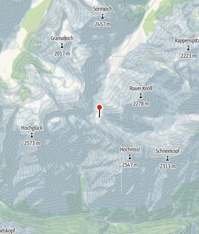 Map / Lamsenjochhütte