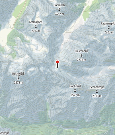 Karte / Lamsenjochhütte