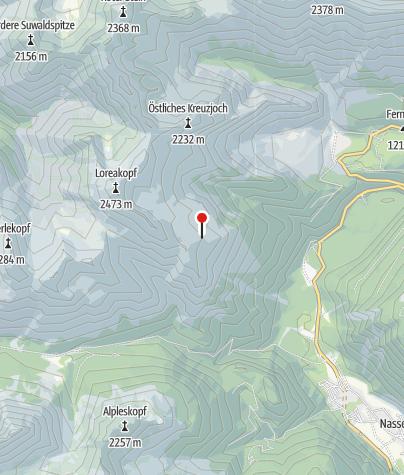 Karte / Lorea-Hütte