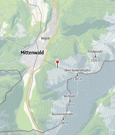 Karte / Mittenwalder Hütte