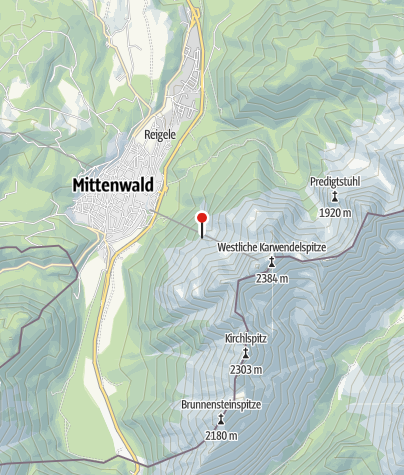 Map / Mittenwalder Hütte