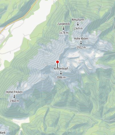 Karte / Weilheimer Hütte