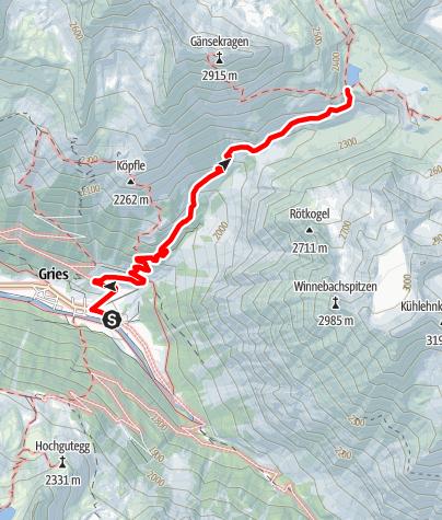 Karte / Winnebachseehütte - Längenfeld/Gries
