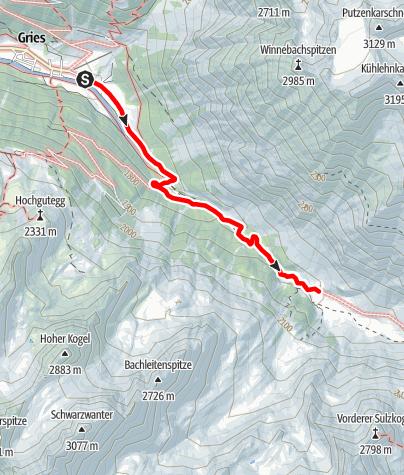 Karte / Sulztalalm - Längenfeld/Gries