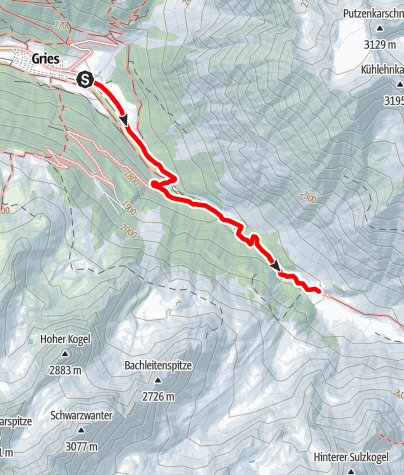Map / Sulztal Alm