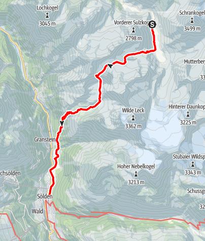 Karte / Atterkarjöchl 2976m - Längenfeld