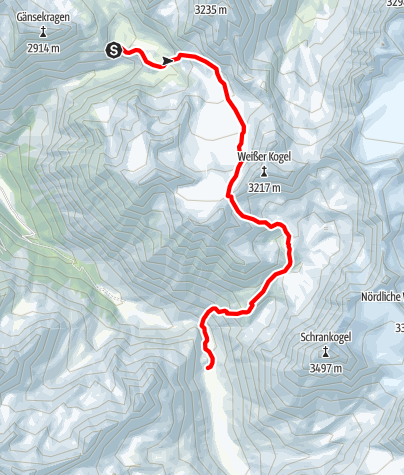 Map / Ötztal Trek Stage 04