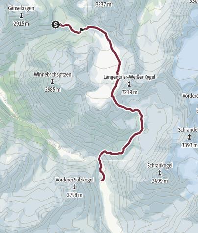 Map / Ötztal Trek Stage 04