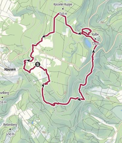 Karte / Premiumweg P1 Hoher Meißner