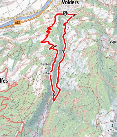 Karte / Kleinvolderberg - Volderwildbad