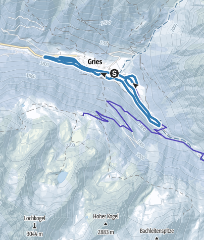 Map / High altitude trail Gries (skating) - Längenfeld