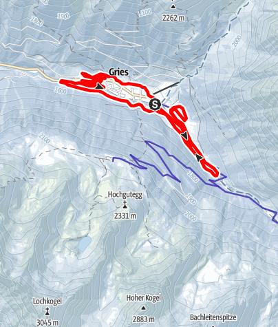 Karte / Höhenloipe Gries (Klassisch) - Längenfeld