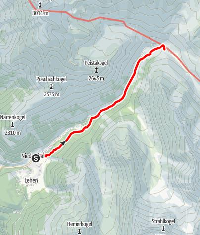Map / Schweinfurter Hütte - Umhausen-Niederthai