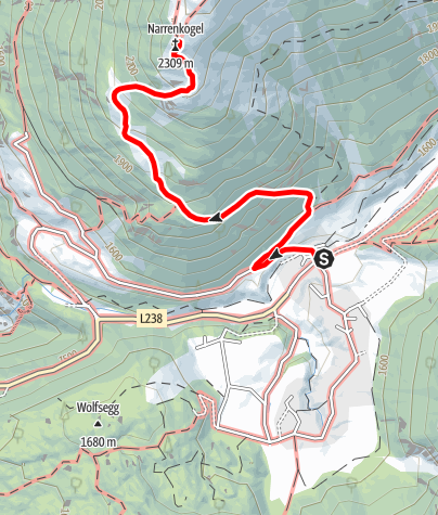 Map / Narrenkogel - Umhausen-Niederthai