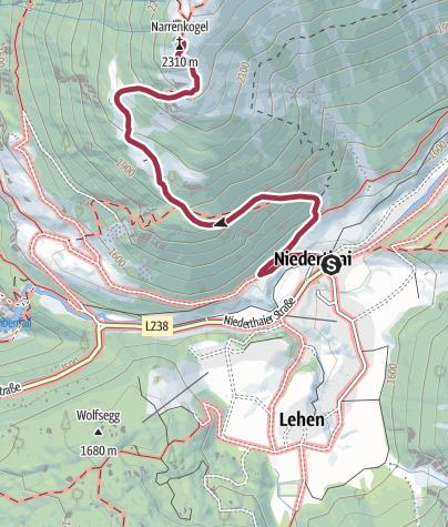 Map / Narrenkogel - Umhausen-Niederthai