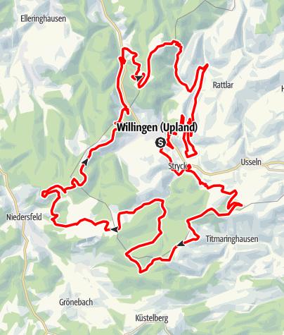 Karte / Bike Arena Sauerland - Willinger Trail-Quartett Nr. 45
