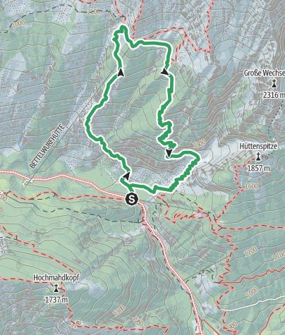 Karte / Absamer Klettersteig