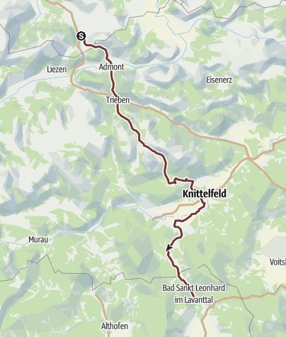 Karte / Am Benediktweg durch die Steiermark