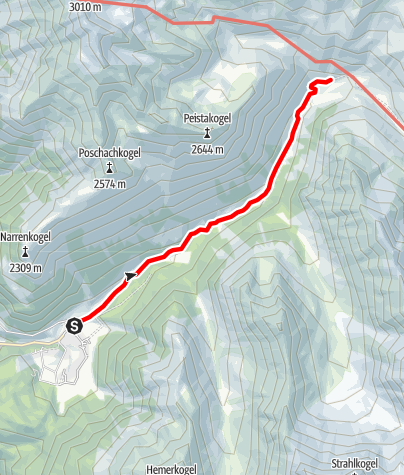 Map / Gross Horlach Alm