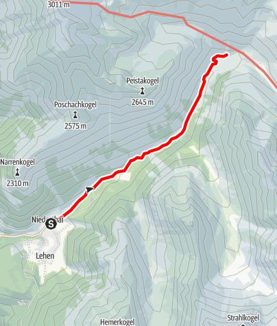 Map / Groß Horlachalm - Umhausen-Niederthai