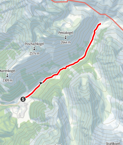 Karte / Klein Horlachalm - Umhausen-Niederthai