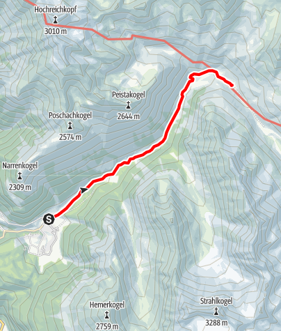 Karte / Zwieselbachalm - Umhausen-Niederthai
