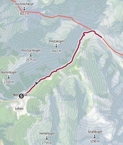 Map / Zwieselbachalm - Umhausen-Niederthai