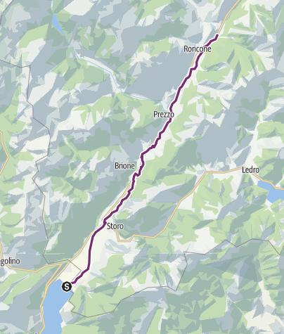 Karte / Radweg Giudicarie Inferiori
