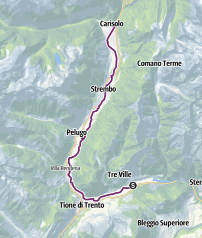 Cartina / Pista Ciclabile Val Rendena