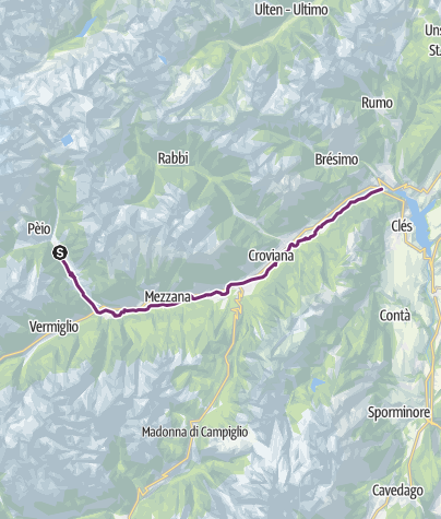 Map / Val di Sole bike paths