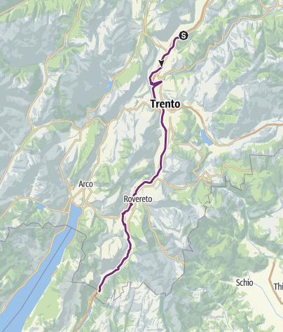 Karte / Radweg Valle dell'Adige Nord