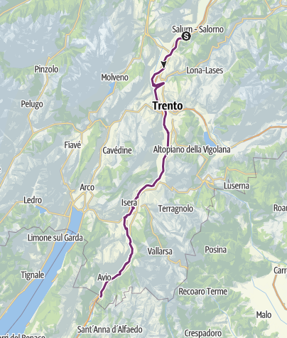 Map / Valle dell'Adige Nord Cycling Path