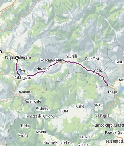 Map / Valsugana Bike paths