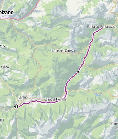 Map / Val di Fassa Bike Path