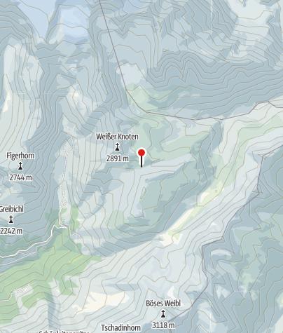 Map / Glorer Hütte