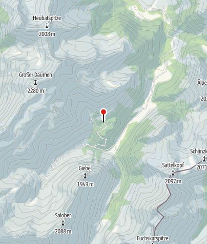 Map / Schwarzenberghütte