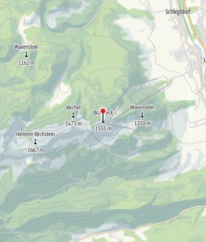 Karte / Brauneck-Gipfelhaus
