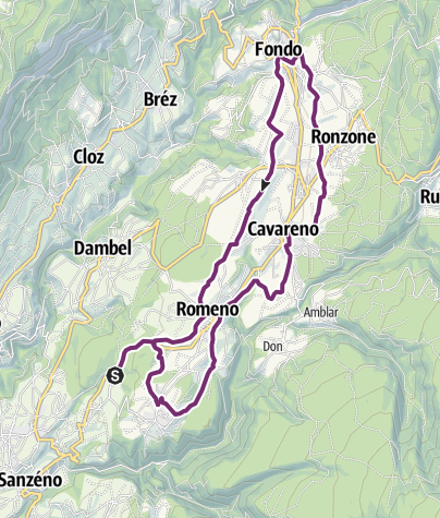 Map / The Upper Val di Non Cycle and Foot Path