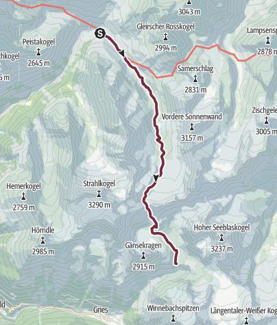 Map / Ötztal Trek Stage 03