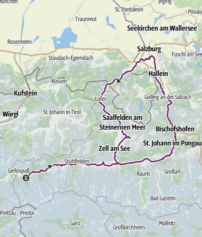Map / A: Tauern Bike Tour Loop Overview