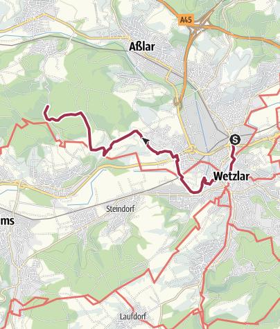 Map / Bergmannsroute von Wetzlar bis Grube Fortuna