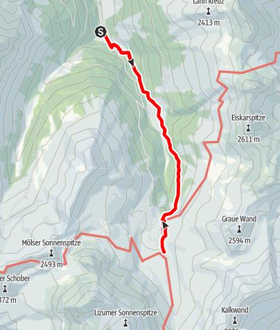 Karte / Der Lizumer Zirbenweg - Zirmweg - zur Lizumer Hütte