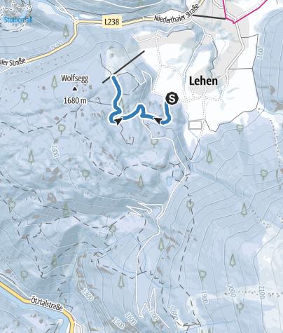 Map / Tauferberg Track - Umhausen-Niederthai