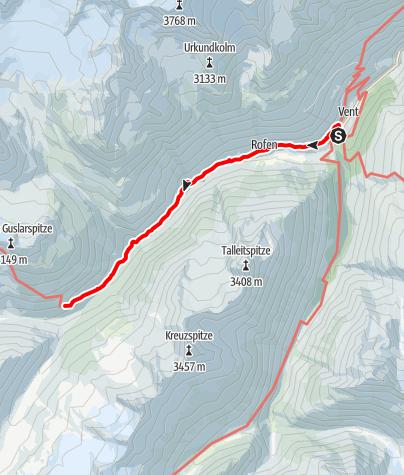 Map / Hochjoch-Hospiz
