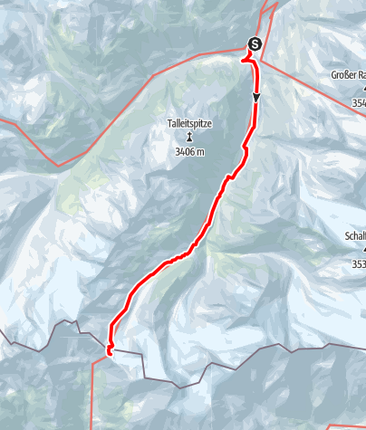 Map / Similaunhütte