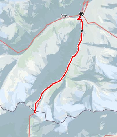 Karte / Similaunhütte