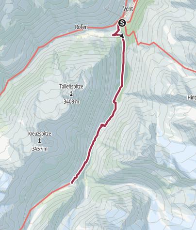 Map / Martin Busch Hütte