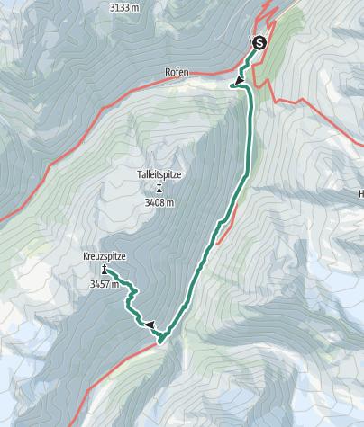 Map / Kreuzspitze