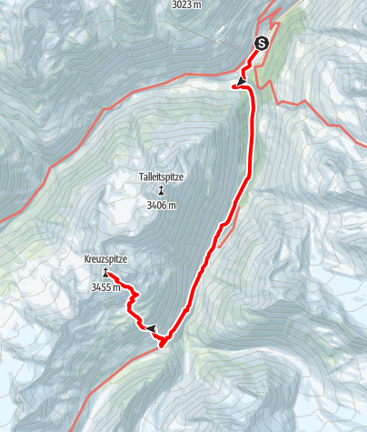 Map / Kreuzspitze
