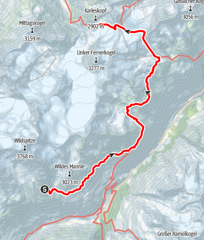 Map / Ötztal Trek Stage 17